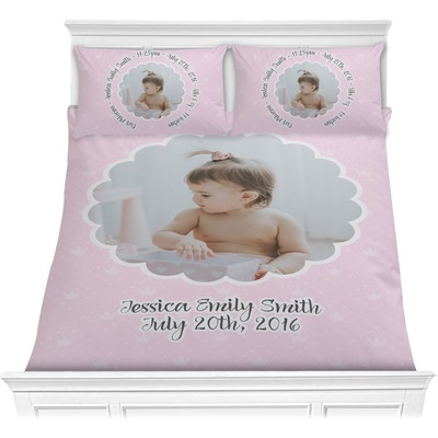 Baby Girl Photo Comforters (Personalized)