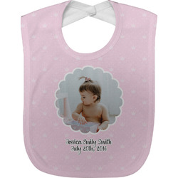 Baby Girl Photo Baby Bib (Personalized)