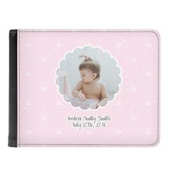 Baby Girl Photo Genuine Leather Men's Bi-fold Wallet (Personalized)