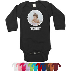 Baby Girl Photo Long Sleeves Bodysuit - 12 Colors (Personalized)