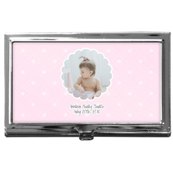 Baby Girl Photo Business Card Case