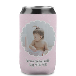 Baby Girl Photo Can Sleeve (12 oz) (Personalized)
