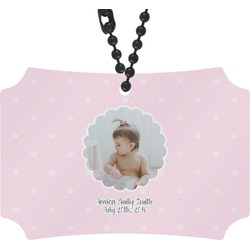 Baby Girl Photo Rear View Mirror Ornament (Personalized)