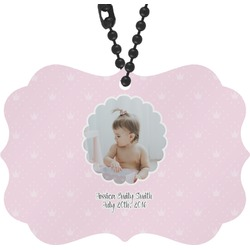 Baby Girl Photo Rear View Mirror Decor (Personalized)