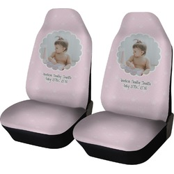 Baby Girl Photo Car Seat Covers (Set of Two) (Personalized)
