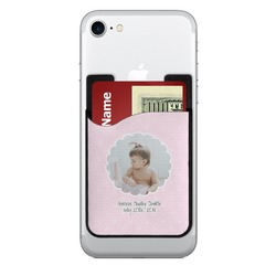 Baby Girl Photo 2-in-1 Cell Phone Credit Card Holder & Screen Cleaner (Personalized)