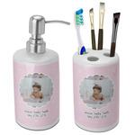 Baby Girl Photo Ceramic Bathroom Accessories Set
