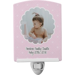 Baby Girl Photo Ceramic Night Light (Personalized)