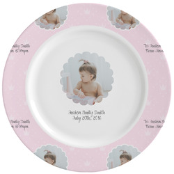 Baby Girl Photo Ceramic Dinner Plates (Set of 4) (Personalized)