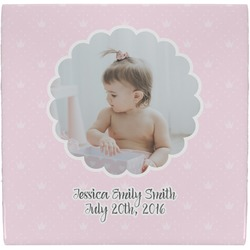 Baby Girl Photo Ceramic Tile Hot Pad (Personalized)