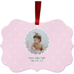 Baby Girl Photo Ornament (Personalized)