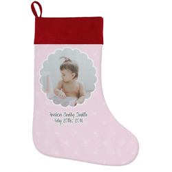 Baby Girl Photo Holiday / Christmas Stocking (Personalized)