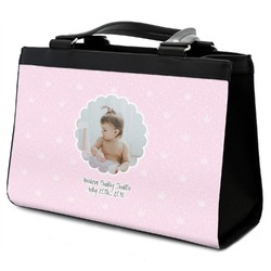 Baby Girl Photo Classic Tote Purse w/ Leather Trim (Personalized)