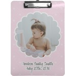 Baby Girl Photo Clipboard (Personalized)