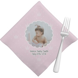 Baby Girl Photo Napkins (Set of 4) (Personalized)