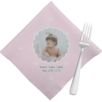 Baby Girl Photo Cloth Napkins (Set of 4) (Personalized)