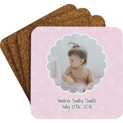 Baby Girl Photo Coaster Set (Personalized)