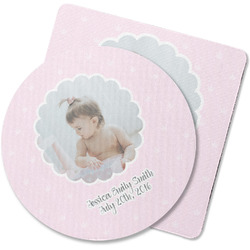 Baby Girl Photo Rubber Backed Coaster (Personalized)