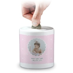 Baby Girl Photo Coin Bank (Personalized)