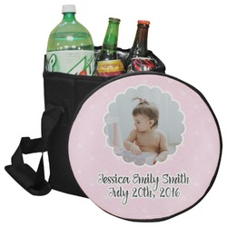 Baby Girl Photo Collapsible Cooler & Seat (Personalized)