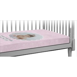 Baby Girl Photo Crib Fitted Sheet (Personalized)