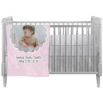 Baby Girl Photo Crib Comforter / Quilt (Personalized)