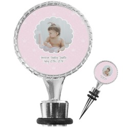 Baby Girl Photo Wine Bottle Stopper (Personalized)