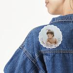 Baby Girl Photo Large Custom Shape Patch