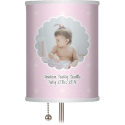 """Baby Girl Photo 7"""" Drum Lamp Shade (Personalized)"""