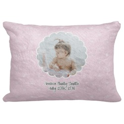 "Baby Girl Photo Decorative Baby Pillowcase - 16""x12"" (Personalized)"