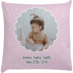 Baby Girl Photo Decorative Pillow Case (Personalized)