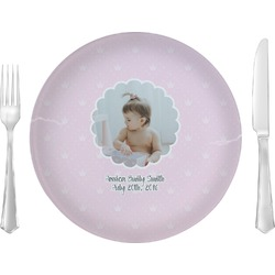 "Baby Girl Photo 10"" Glass Lunch / Dinner Plates - Single or Set (Personalized)"
