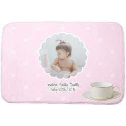 Baby Girl Photo Dish Drying Mat (Personalized)