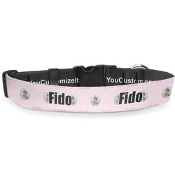 Baby Girl Photo Deluxe Dog Collar (Personalized)