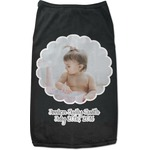 Baby Girl Photo Black Pet Shirt (Personalized)
