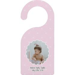 Baby Girl Photo Door Hanger (Personalized)