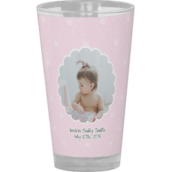Baby Girl Photo Drinking / Pint Glass (Personalized)