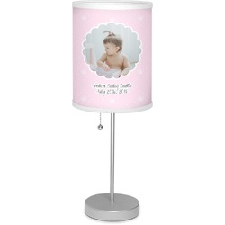 "Baby Girl Photo 7"" Drum Lamp with Shade (Personalized)"