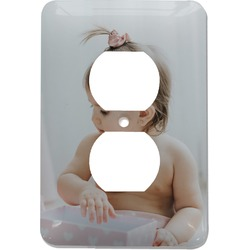 Baby Girl Photo Electric Outlet Plate (Personalized)