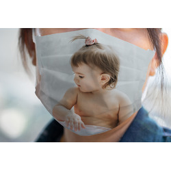 Baby Girl Photo Face Mask Cover (Personalized)
