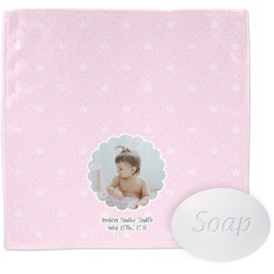 Baby Girl Photo Washcloth (Personalized)