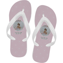 Baby Girl Photo Flip Flops (Personalized)
