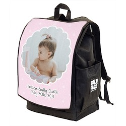 Baby Girl Photo Backpack w/ Front Flap  (Personalized)