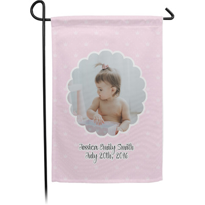 Baby Girl Photo Garden Flag - Single or Double Sided (Personalized)