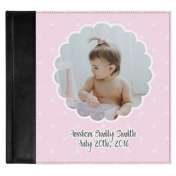 Baby Girl Photo Genuine Leather Baby Memory Book (Personalized)