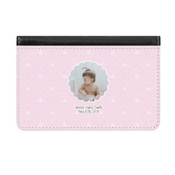 Baby Girl Photo Genuine Leather ID & Card Wallet - Slim Style (Personalized)