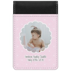 Baby Girl Photo Genuine Leather Small Memo Pad (Personalized)