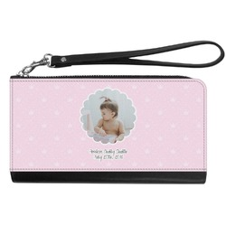 Baby Girl Photo Genuine Leather Smartphone Wrist Wallet (Personalized)