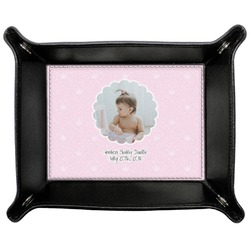 Baby Girl Photo Genuine Leather Valet Tray (Personalized)