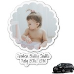 Baby Girl Photo Graphic Car Decal (Personalized)